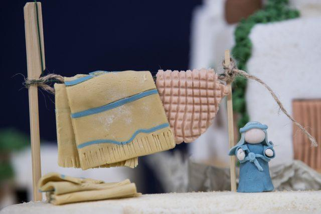 The cake will be auctioned to support the local school (Aaron Chown/PA)