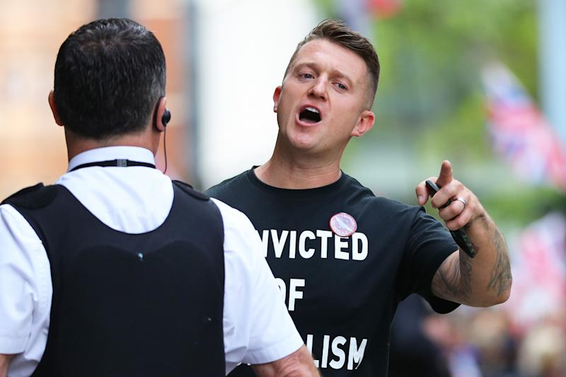 Far-right activist Tommy Robinson was jailed last week (Picture: PA)