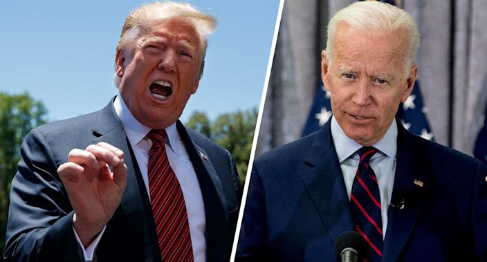 President Trump and former Vice President Joe Biden. (Photos: Evan Vucci/AP, Brett Coomer/Houston Chronicle via AP)
