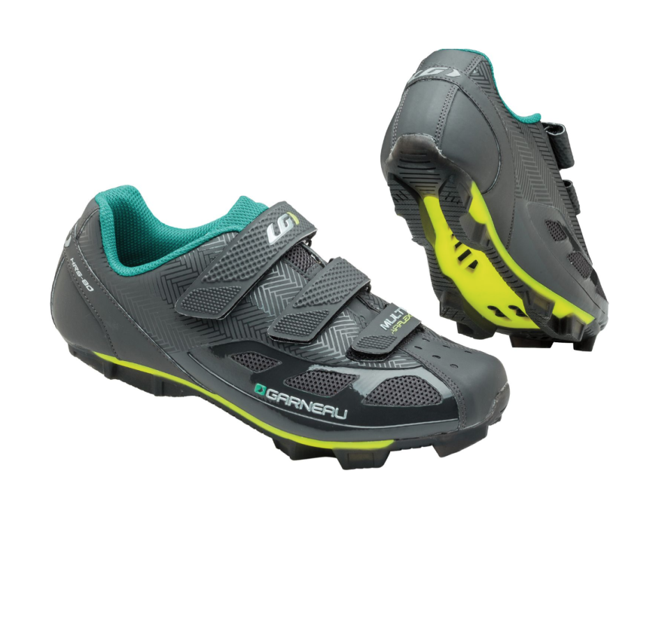 """<p><strong>Louis Garneau</strong></p><p>dickssportinggoods.com</p><p><strong>$99.99</strong></p><p><a href=""""https://go.redirectingat.com?id=74968X1596630&url=https%3A%2F%2Fwww.dickssportinggoods.com%2Fp%2Flouis-garneau-womens-multi-air-flex-cycling-shoes-16lgawwmnsmltrflxshs%2F16lgawwmnsmltrflxshs&sref=https%3A%2F%2Fwww.goodhousekeeping.com%2Fhealth-products%2Fg34619269%2Fbest-spin-shoes%2F"""" rel=""""nofollow noopener"""" target=""""_blank"""" data-ylk=""""slk:Shop Now"""" class=""""link rapid-noclick-resp"""">Shop Now</a></p><p>This well-made cycling shoe offers great support, a stiff sole, velcro upper and decent ventilation throughout the design. <strong>Reviewers say that it's comfortable and sturdy.</strong> They work for many indoor cycling classes, but are not Peloton compatible and the cleats are sold separately.</p><p><em>Compatible with two-hole cleat system.</em></p>"""