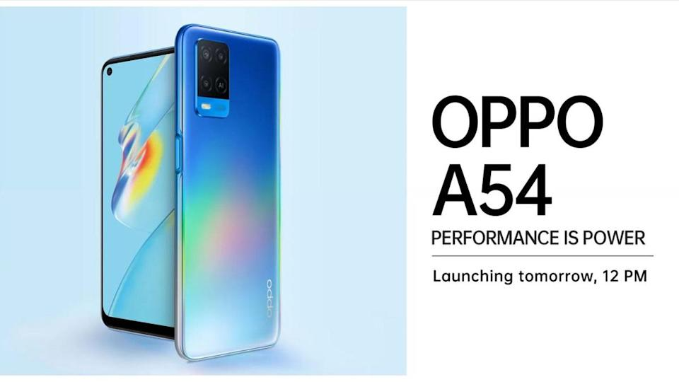 Oppo A54 Smartphone Launching Tomorrow