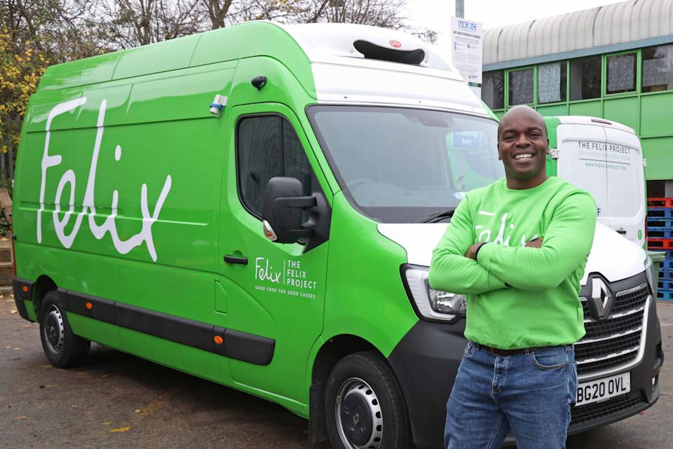 <p>The mayoral candidate joined Felix volunteers on a food delivery run,</p>Nigel Howard