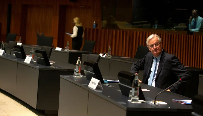 FILE PHOTO: EU ministers discuss Brexit trade talks in Luxembourg