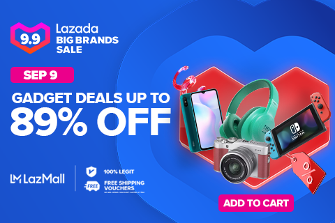 Up to 89% off gadget deals. PHOTO: Lazada