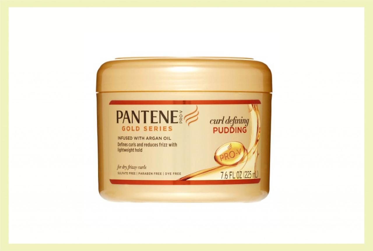"<p>If you have been having issues trying to get your curls to stay in place, this defining pudding is exactly what you need to help tame your ringlets. It's loaded with nourishing argan oil and gives a light hold to keep your hair bouncy but intact. ($8, <a rel=""nofollow"" href=""http://pantene.com/en-us/product/curl-defining-pudding"">pantene.com</a>)  </p>"