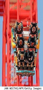 Roller coaster to illustrate double-dip recession
