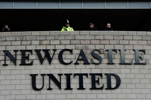 Newcastle United are the subject of a Saudi-backed takeover bid (AFP Photo/LINDSEY PARNABY)