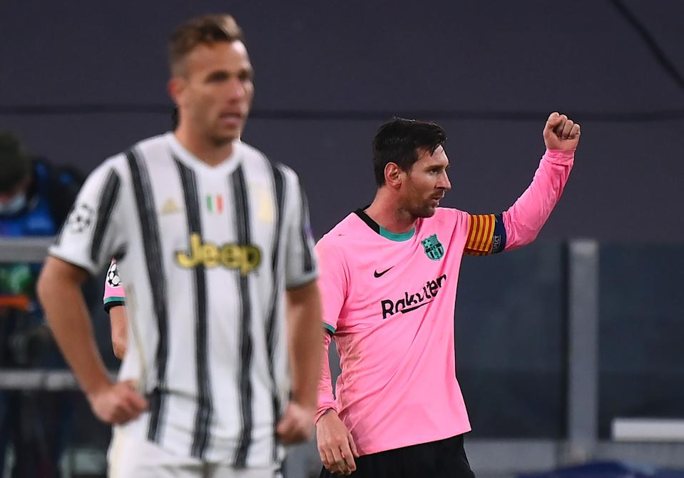 Lionel Messi (right) and Barcelona prevailed Wednesday in the Champions League, but Juventus didn't have Cristiano Ronaldo for the encounter. (Photo by MARCO BERTORELLO/AFP via Getty Images)