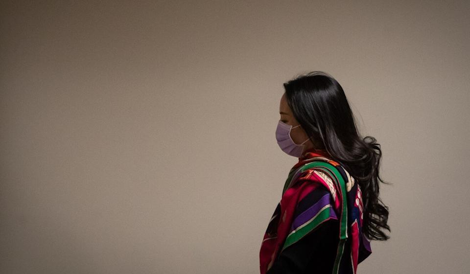 Meng Wanzhou arrives at the BC Supreme Court for a hearing in Vancouver on Thursday. Photo: Bloomberg