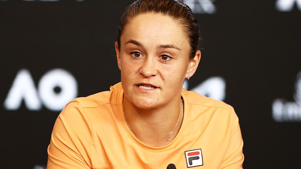 Ash Barty, pictured here after her loss in the Australian Open quarter-finals.