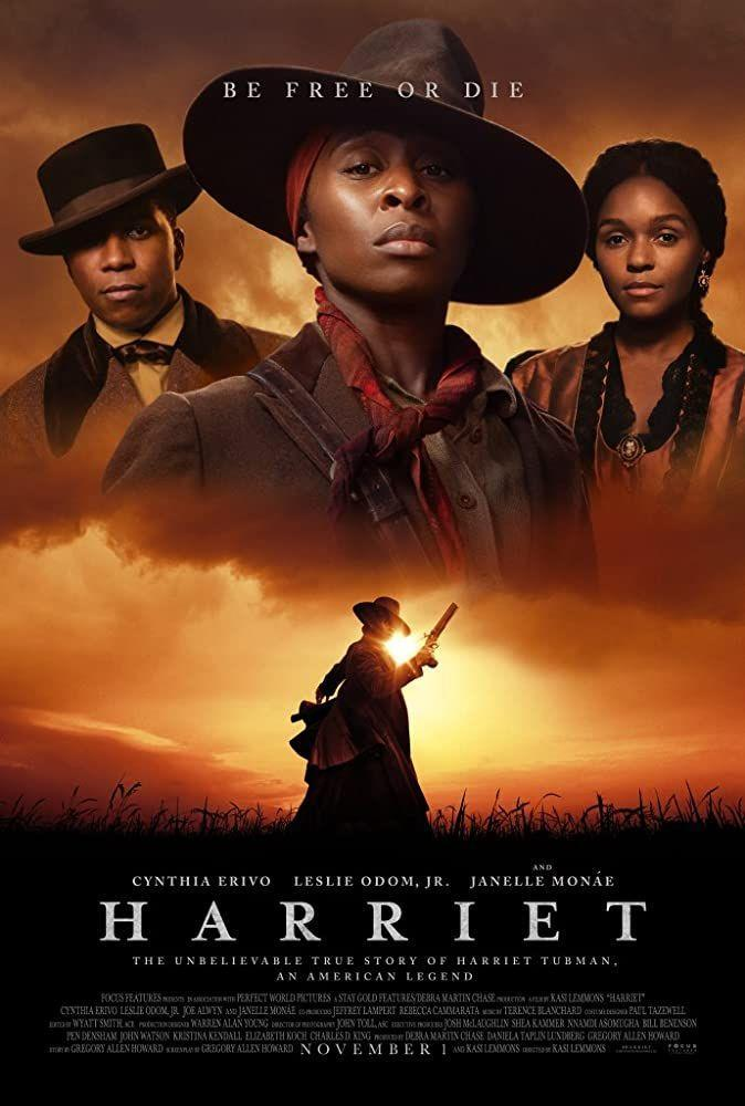 """<p>Led by the incomparable Cynthia Erivo, <em>Harriet </em>tells the story of Harriet Tubman, the Underground Railroad, and the hundreds of enslaved people the abolitionist led to freedom.</p><p><a class=""""link rapid-noclick-resp"""" href=""""https://www.amazon.com/Harriet-Cynthia-Erivo/dp/B07Z85VF9Q?tag=syn-yahoo-20&ascsubtag=%5Bartid%7C10063.g.36572054%5Bsrc%7Cyahoo-us"""" rel=""""nofollow noopener"""" target=""""_blank"""" data-ylk=""""slk:Watch Here"""">Watch Here</a></p>"""