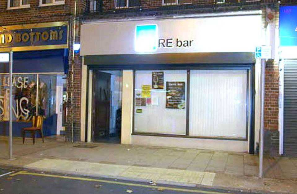 The RE bar in west London where Shane O'Brien attacked Mr Hanson in 2005. (PA)