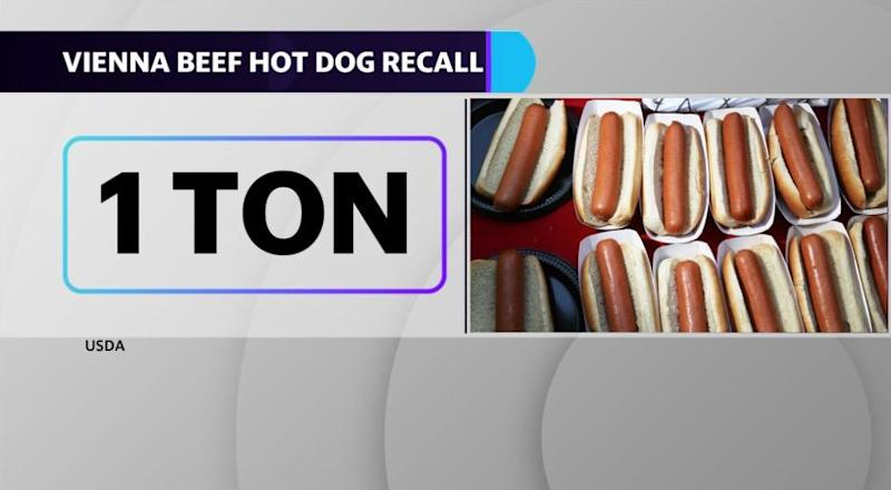 Vienne Beef announces a recall of 1 ton of their beef frankfurters ahead of the Memorial Day holiday.