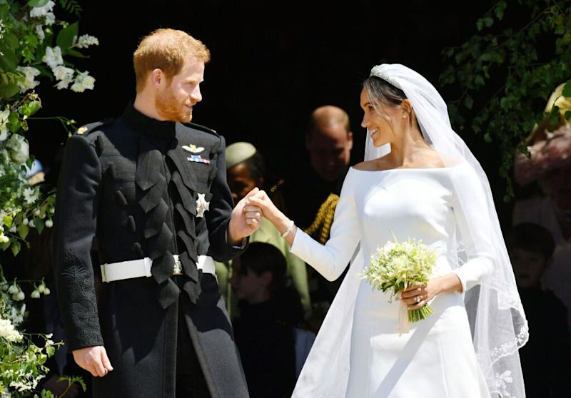 The Duke and Duchess of Sussex are celebrating their first wedding anniversary [Photo: Getty]