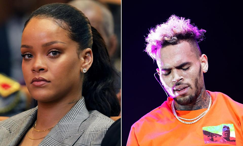 Rihanna responds to Snapchat's domestic violence joke game. (Getty)