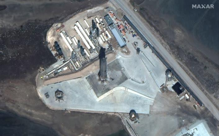 Maxar's WorldView-3 satellite shows overview of SpaceX Starship SN10 launch facilities at Boca Chica, Texas