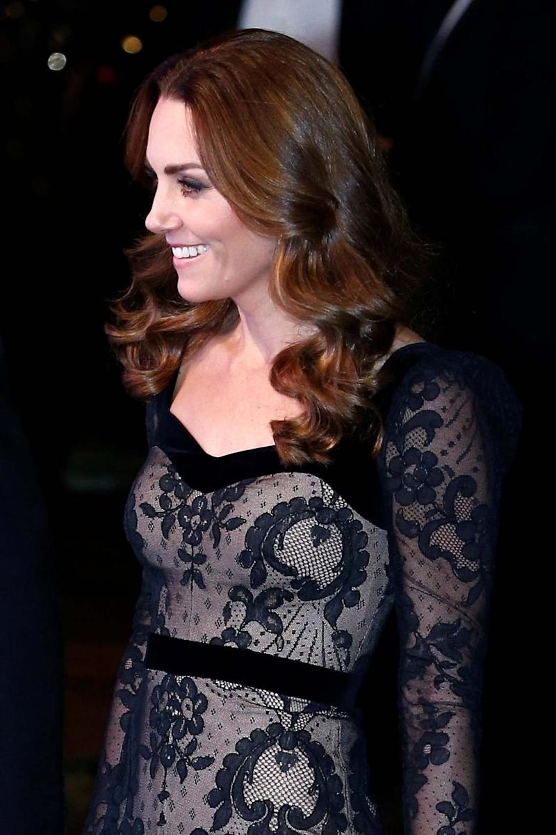 Kate wore a bespoke gown by her favourite designer, Alexander McQueen (REUTERS)