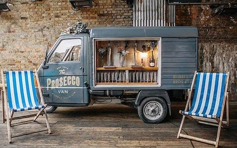 The Bubble Bros' Prosecco van will add vintage charm to proceedings - Credit: Bubble Bros./Bubble Bros.
