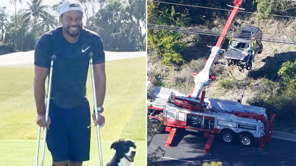 Tiger Woods says the pain of his injuries is worse than he's ever experienced. Image: Instagram/Getty