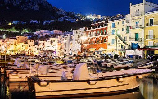 Capri's main port at night  - Tetra