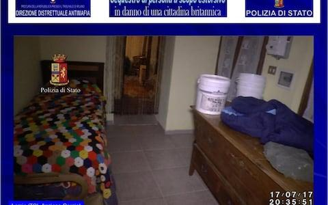 The room where the model was alleged to have been held - Credit: Italian Police
