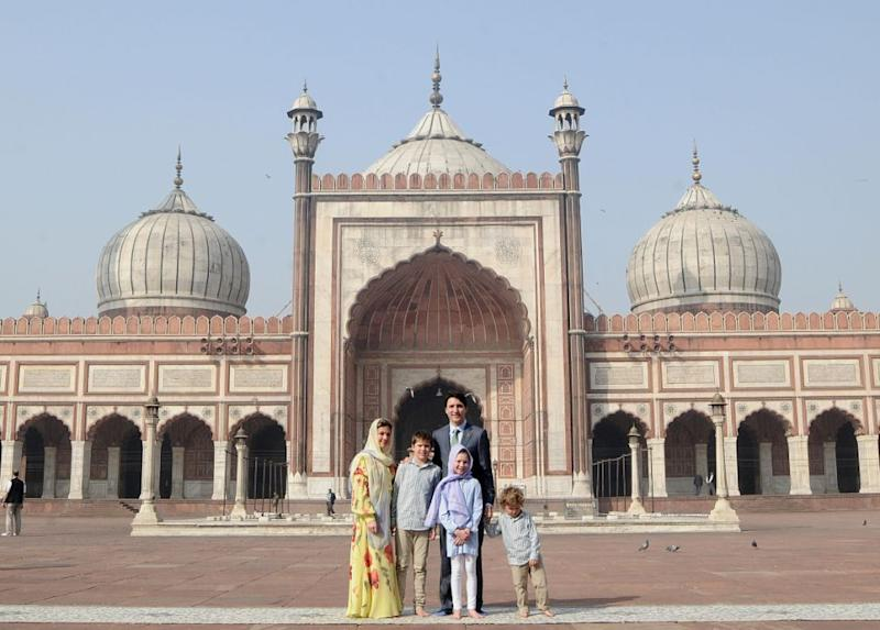 He later couldn't care about being in front of the Jama Masjid. Photo: Getty Images