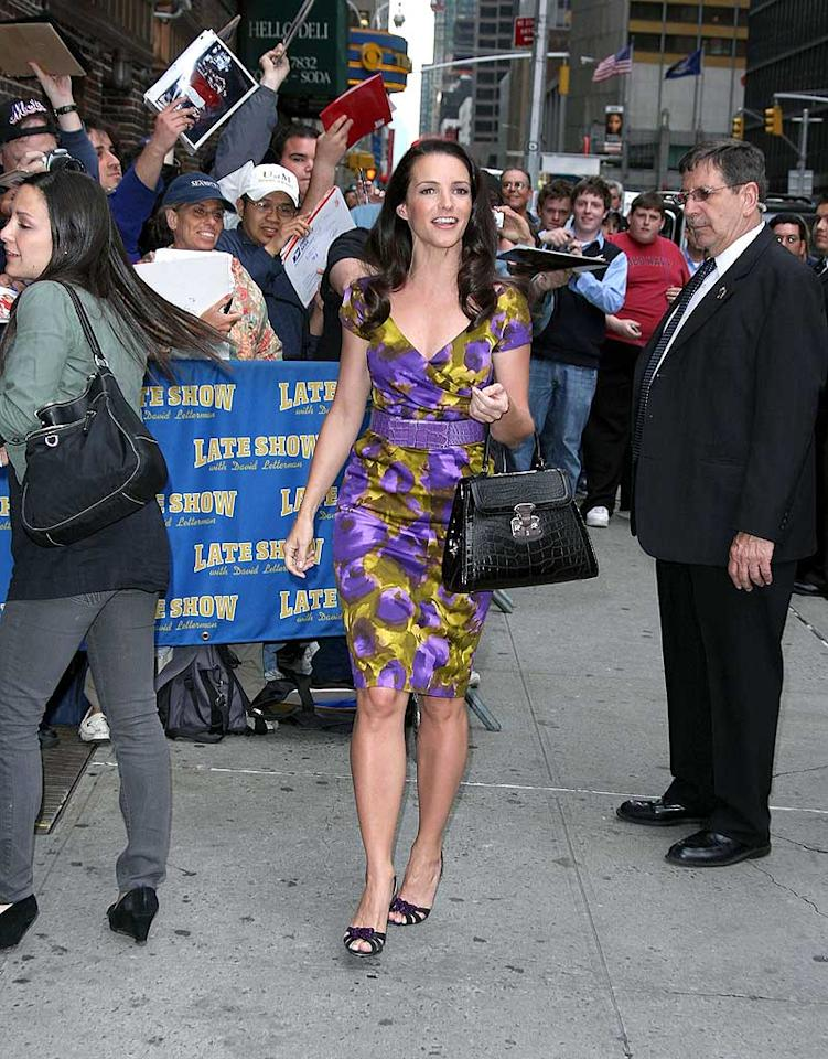"Kristin Davis greeted hordes of fans outside ""The Late Show With David Letterman."" ""Sex and the City"" hysteria has reached a fevered pitch in New York, where the film will premiere next Tuesday. James Devaney/<a href=""http://www.wireimage.com"" target=""new"">WireImage.com</a> - May 21, 2008"