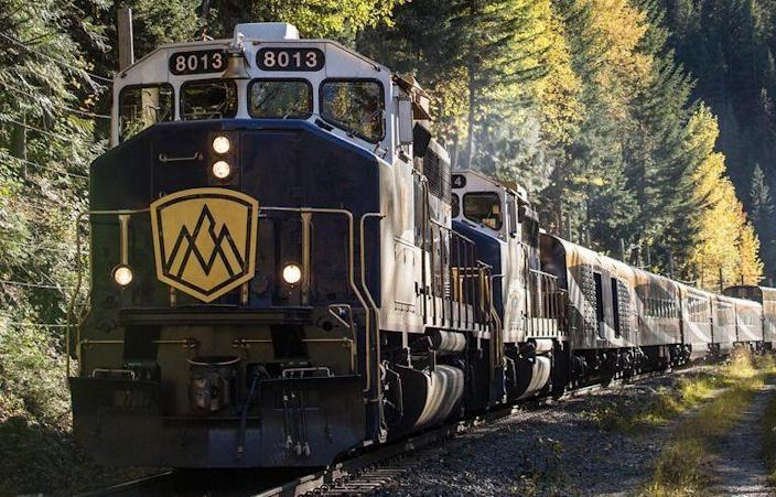 """<p>The Canadaian <a href=""""https://www.rockymountaineer.com/"""" rel=""""nofollow noopener"""" target=""""_blank"""" data-ylk=""""slk:Rocky Mountaineer"""" class=""""link rapid-noclick-resp"""">Rocky Mountaineer</a> operates four distinct rail routes, all more beautiful than the next. The trail takes passengers through the Rocky Mountains the connect British Columbia and Alberta, offering stunning views of forests, fields, peaks, and valleys along the way. Perhaps the most popular of their offerings, GoldLeaf service allows passengers to take in 360-degree views from a glass-domed double-level train car. There's even an outdoor viewing platform, perfect for taking in the fresh mountain air. </p>"""