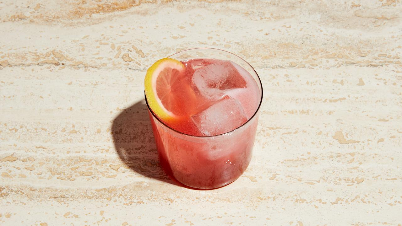 """Dry sparkling rosé and lemon soda complement the citrusy flavor of Campari and make for a beautifully vibrant cocktail. <a href=""""https://www.bonappetit.com/recipe/campari-spritz?mbid=synd_yahoo_rss"""">See recipe.</a>"""