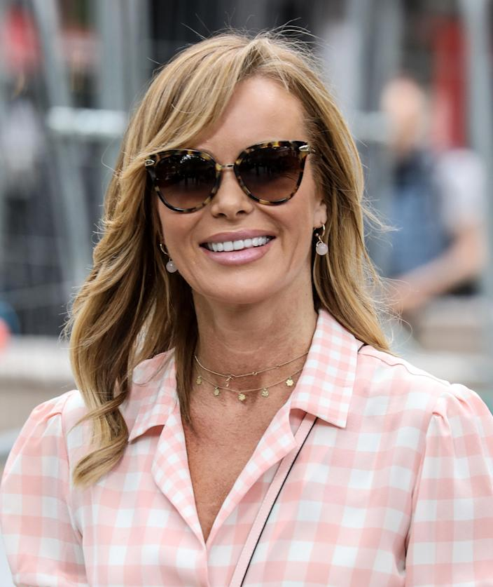 Amanda Holden departs from The Global Radio Studios In London. (Photo by Brett Cove / SOPA Images/Sipa USA)