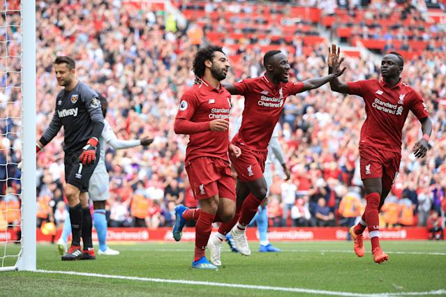 Red fire: Liverpool have started the new Premier League season strongly
