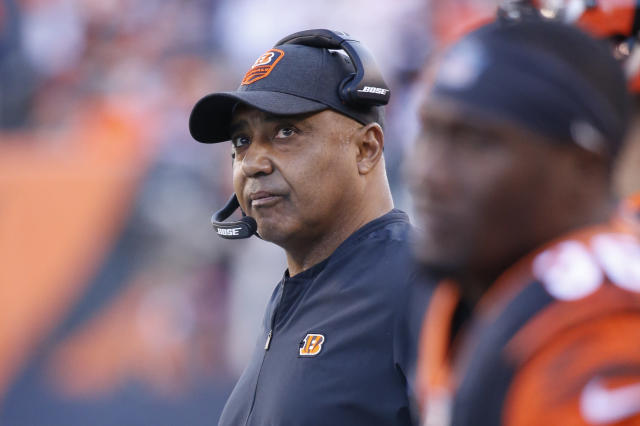 Former Cincinnati Bengals head coach Marvin Lewis will be in the broadcast booth this weekend. (AP)