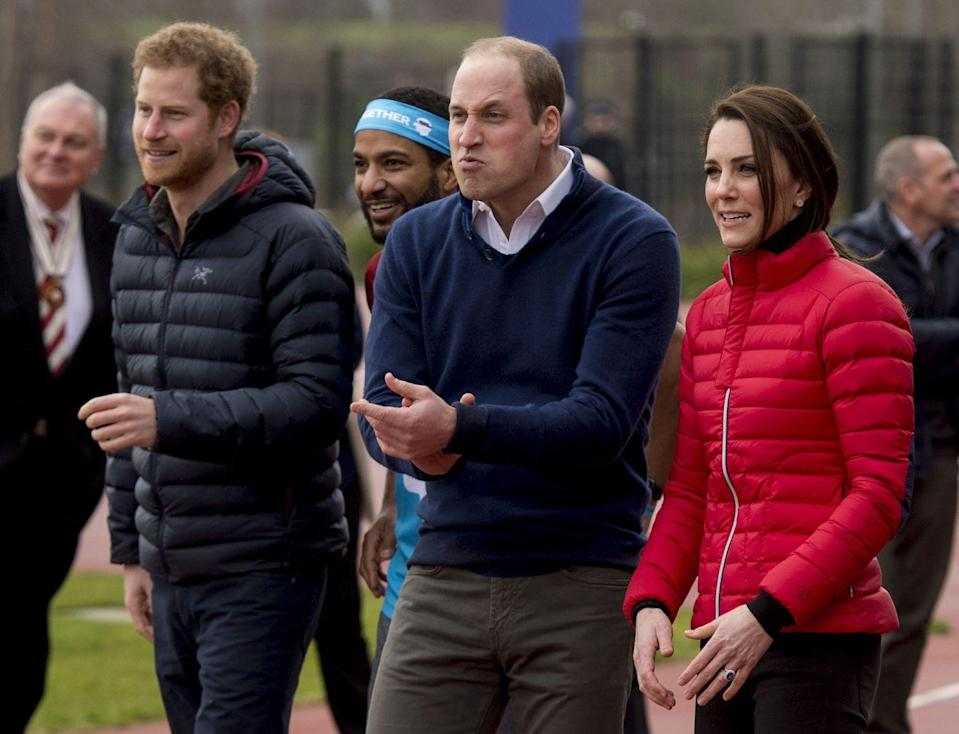 """<p>While watching a group of runners train for the 2017 London Marathon, <a href=""""https://www.goodhousekeeping.com/life/a21931446/prince-william-jordan-vacation-photo-kate-middleton/"""" rel=""""nofollow noopener"""" target=""""_blank"""" data-ylk=""""slk:Prince William"""" class=""""link rapid-noclick-resp"""">Prince William</a> was caught mid-cheering with a very, well, *interesting* face. If you were a runner and saw the prince looking at you like this, would you feel motivated to run faster ... or laugh hysterically?</p>"""