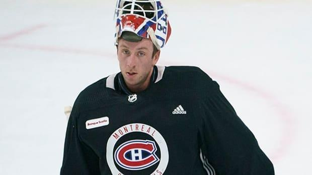 Jake Allen of Fredericton joined the Montreal Canadiens this season after spending his first seven seasons in St. Louis, which included a Stanley Cup win in 2019. (Paul Chiasson/Canadian Press - image credit)