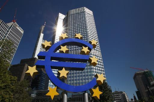 File photo shows the Euro logo displayed in front of the European Central Bank (ECB) building in Frankfurt, Germany on September 5, 2013
