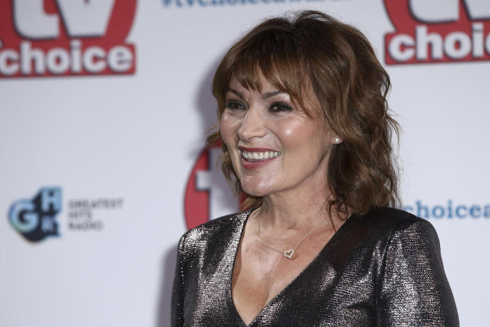 TV Presenter Lorraine Kelly poses for photographers on arrival at the TV Choice Awards in central London on Monday, Sept. 9, 2019. (Photo by Grant Pollard/Invision/AP)