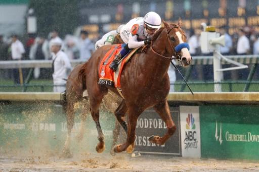 Justify, ridden by jockey Mike Smith, won the Kentucky Derby giving trainer Bob Baffert his fifth Derby, one shy of the record owned by 1940s legendary trainer Ben Jones