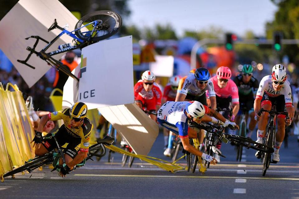 Fabio Jakobsen, Dylan Groenwegen and others crashed at high-speed on stage 1 of the Tour de Pologne