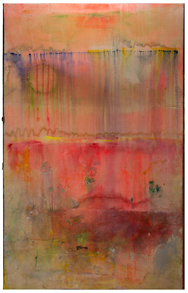 Frank Bowling, Watermelon Bight, 2020, acrylic on canvas