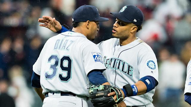 Edwin Diaz and Robinson Cano are headed to the Mets as part of Seattle's big rebuilding plan. (AP)