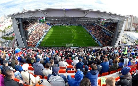 General view inside the stadium during the 2018 FIFA World Cup Russia group A match between Egypt and Uruguay at Ekaterinburg Arena - Credit: Getty images