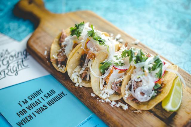 Mini tacos are on the menu at Punch Bowl Social. [Photo credit: Amber Boutwell, Punch Bowl Social]