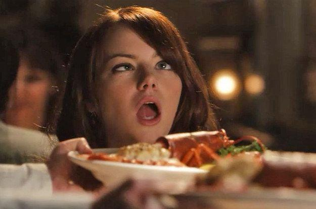 Emma Stone in Crazy, Stupid Love represents food lovers in Food Christmas Gift Guide 2020