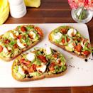 """<p>Turning avocados into avocado toast is our favourite way to use the fruit. But you don't just have to mash them up with lemon juice and salt — we've taken avo toast to the next level with this caprese twist, but also <a href=""""https://www.delish.com/uk/cooking/recipes/a33948328/greek-avocado-toast-recipe/"""" rel=""""nofollow noopener"""" target=""""_blank"""" data-ylk=""""slk:Greek Avocado Toast"""" class=""""link rapid-noclick-resp"""">Greek Avocado Toast</a>, which you definitely don't want to miss.</p><p>Get the <a href=""""https://www.delish.com/uk/cooking/recipes/a33948111/caprese-avocado-toast-recipe/"""" rel=""""nofollow noopener"""" target=""""_blank"""" data-ylk=""""slk:Caprese Avocado Toast"""" class=""""link rapid-noclick-resp"""">Caprese Avocado Toast</a> recipe.</p>"""