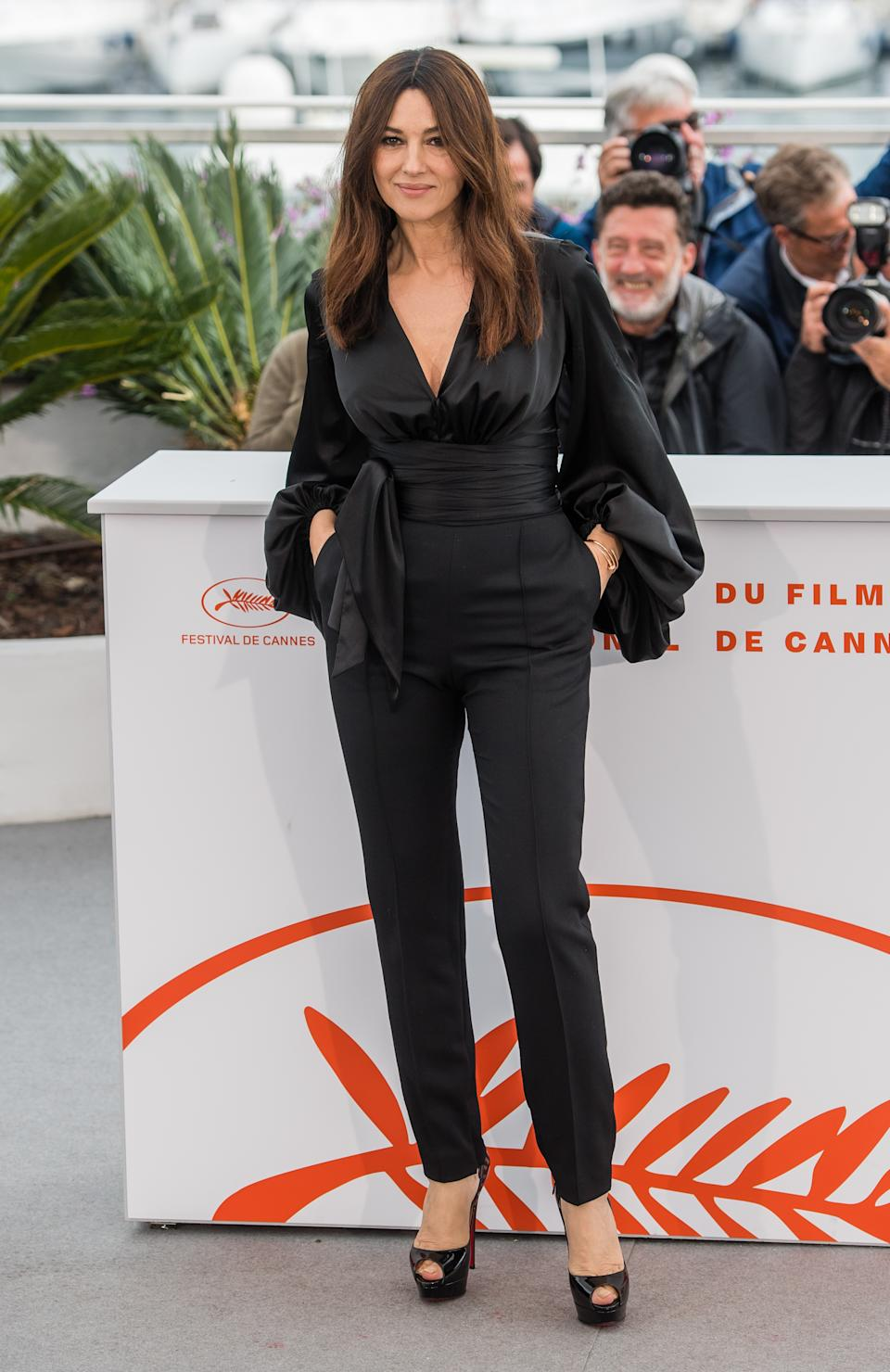 Wearing black blouse and trousers. <em>[Photo: Getty]</em>