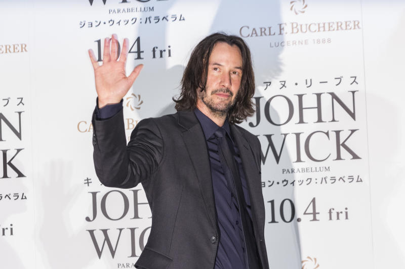 Keanu Reeves attends the Japan premiere of 'John Wick: Chapter 3 - Parabellum' on September 10, 2019. (Photo by Yuichi Yamazaki/Getty Images)