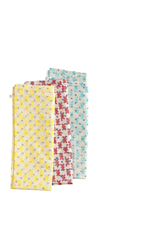 "Hand-block-printed napkins; $210 for a set. <a href=""http://gregoryparkinson.com/"">Gregoryparkinson.com</a>"