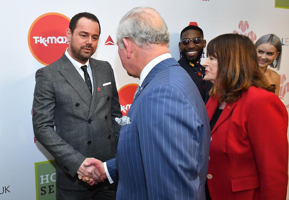 Danny Dyer meets Prince Charles at the Prince's Trust Awards [Photo: PA]
