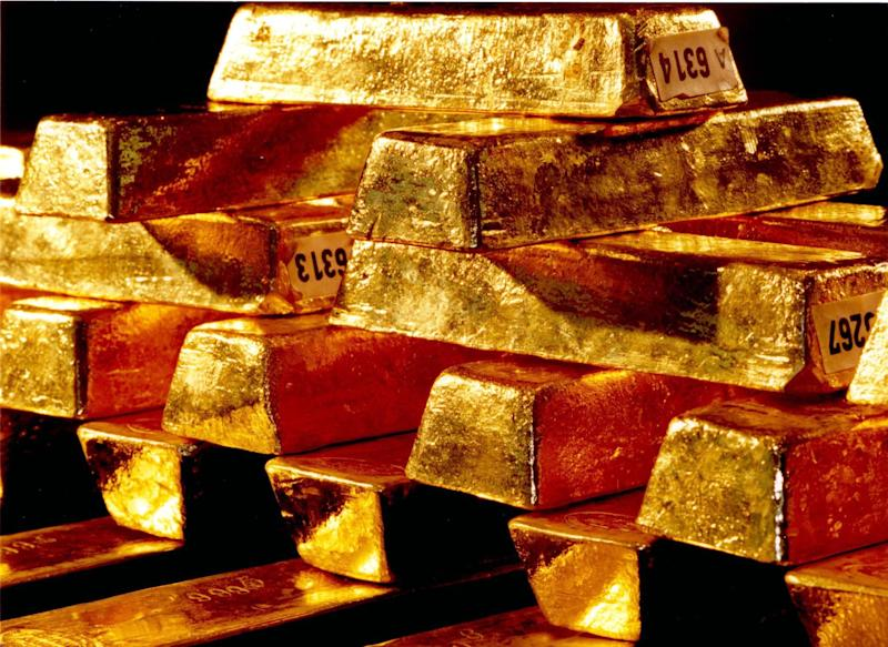 In this undated file picture publicly provided by German Central  Bank, gold ingots, are stored at their headquarters in Frankfurt, Germany.  A German newspaper reports the country's central bank will repatriate parts of its massive gold reserves worth about US $200 billion at current market rates from storage sites in the United States and in France. Daily Handelsblatt reported Tuesday Jan 15, 2013  the Bundesbank  plans to bring back to Germany some of its 1,500 tons of gold stored with the Federal Reserve in New York, and all of the 450 tons currently with the Bank of France in Paris. (AP Photo/hopd/Deutsche Bundesbank)