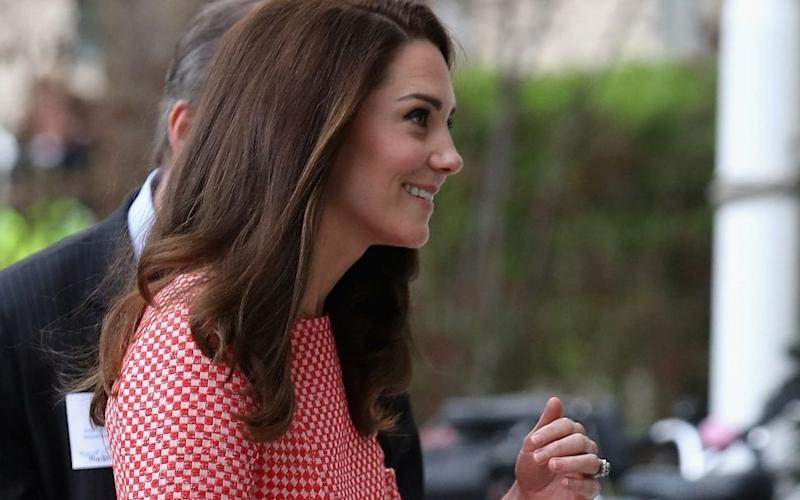 The Duchess of Cambridge pictured on Thursday morning - Credit: Chris Jackson/Getty